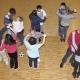 """Die acht Menschen mit geistiger Behinderung und ihre Betreuer hatten viel Spaß beim Workshop mit """"Piti"""" Lessmann. Neben Discofox haben sie zum Beispiel auch Line Dance gelernt. Diesen Sonntag geht der Kurs weiter. Foto: Anjoulih Pawelka"""
